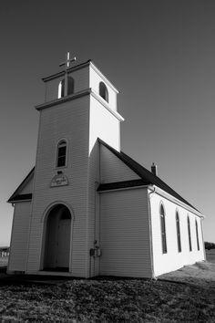 Kansas prairie church....by nf