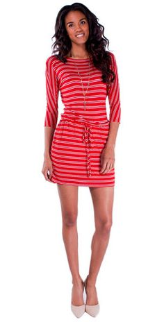 Obsessed with the #red #stripes in this adaorable number Casual Dresses – Mabel & Zora