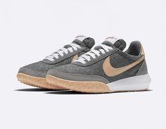 Footwear: Nike W Roshe Waffle Racer Wool + Tan.