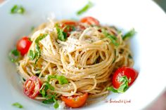 Ina's Summer Garden Pasta   Don't let the plain look of this dish fool you - it's absolutely delicious. And I mean delicious . Fresh, garl...