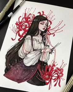 Prompt Soul Weaver She weaves and guides souls to the afterlife Does she resemble a character you know? Prompt Soul Weaver She weaves and guides souls to the afterlife Does she resemble a character you know? Pretty Art, Cute Art, Watercolor Illustration, Watercolor Art, Arte Sketchbook, Witch Art, Aesthetic Art, Cartoon Art, Cute Drawings
