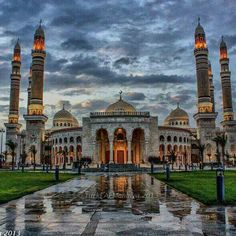 Al-Saleh Mosque In The Yemen