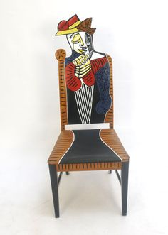 Picasso Tete Dune Femme Lisant upscaled chair painted от FendosArt