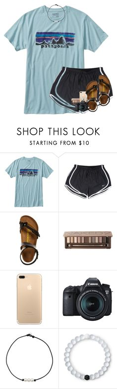 """""""my sis is gettin her wisdom teeth out today://"""" by elizabethannee ❤ liked on Polyvore featuring Patagonia, NIKE, Birkenstock, Urban Decay, Eos and Lokai"""