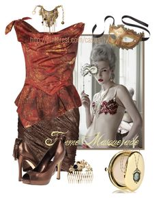"""""""Femme Masquerade"""" by casuality ❤ liked on Polyvore featuring Masquerade, VILA, Vivienne Westwood Anglomania, Pier 1 Imports, rsvp, Estée Lauder, Mina Ro Mina, Retrò and Versace"""