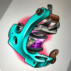 Got this @victor_chil inspired tattoo machine design up for grabs. Would absolutely LOVE to do this!! - http://ift.tt/1HQJd81
