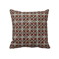 Abstract Pattern Inspired by Portuguese Azulejos Burgundy Accent Throw Pillow by martaharvey Accent Pillows, Throw Pillows, Sentimental Gifts, Abstract Pattern, Portuguese, Decorative Pillows, Wedding Gifts, Burgundy, Inspired