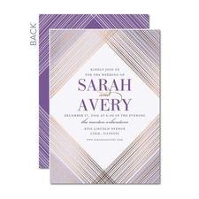 Everlasting Gem Purple Wedding Invitations