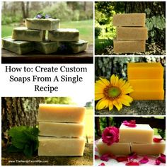 Create Custom Soaps From A Single Recipe