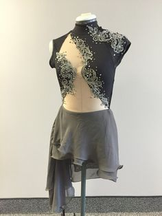 Tag # 302b Black and Gray Multiple sizes available (duo, trio, group) dance costume