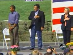 Obama and the National Anthem. keeping his hands over his snatch.