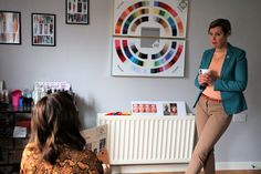 I recently spent a very pleasant few hours having my colours 'done' or analysed by House of Colour consultant Maria Macklin in her County Monaghan studio (below). The process is fascinating. The basis of colour … Summer Colors, Warm Colors, Colours, Mother Of The Groom Hairstyles, Colour Consultant, I Kid You Not, Soft Autumn, Color Your Hair, Going Gray