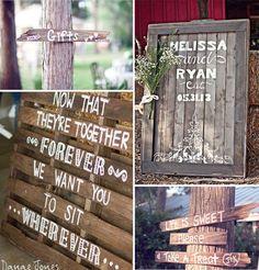 outdoor wedding sings for country rustic weddings