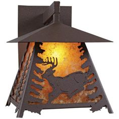 Amber mica glows beautifully as the backdrop for this finely crafted outdoor wall light. high x wide. Extends from the wall. Takes one 150 watt bulb (not included). Style # at Lamps Plus. Outdoor Wall Lighting, Outdoor Walls, Carriage Lights, Spruce Tree, Outside Patio, Light Decorations, Smoky Mountain, Wall Lights, Appliques
