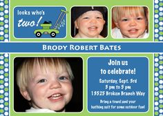 Personalized Lawn Mower Party invitations. $12.00, via Etsy.