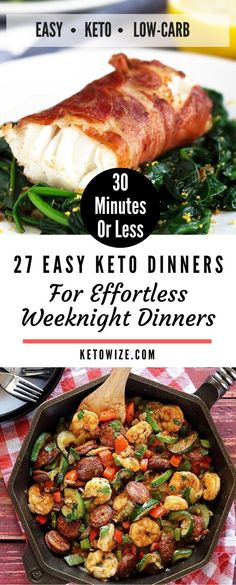 Are you looking for an awesome resource of easy Keto recipes that are perfect for beginners? Low Carb Shrimp Recipes, Salad Recipes Low Carb, Low Carb Dinner Recipes, Keto Recipes, Chicken And Beef Recipe, Slow Cooker Chicken, Snacks To Make, Low Carb Meal Plan, Quick And Easy Breakfast