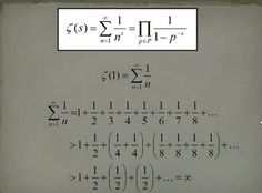 Riemann Zeta Function :  Using the RZF to prove there are an Infinite Number of Primes  http://www.youtube.com/watch?v=SKa7b-3C32A