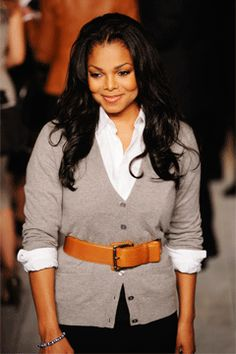 my favorite look for myself, the sweater, the shirt rolled up, the belt and the long hair. CLean, Preppy with Sass! Jo Jackson, Jackson Family, Michael Jackson, Janet Jackson Unbreakable, Selena And Taylor, Toni Braxton, The Jacksons, Female Singers, Celebs