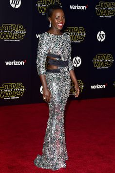 Lupita Nyong'o in Alexandre Vauthier couture - star wars: the force awakens premiere