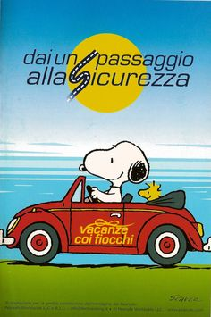 Social car campaign in Italy: Snoopy
