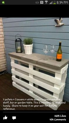 Pallet bench/table