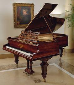 Carl Bechstein (Berlín Gotha 1826 – 1900).  Grand Piano, ca.  1893. cordófono-cítara-golpeado-piano.  El Museo de Arte Metropolitano, Nueva York.