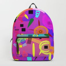 I once was happy #Backpacks #backpack #abstract #backtoschool #school #modern #brushstrokes #colorful #kids