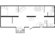 Shipping Container Home Or House Floor Plans Using 3 40 Foot Shipping  Containers | Container House Plans | Pinterest | Floor Design, Container  House Plans ...