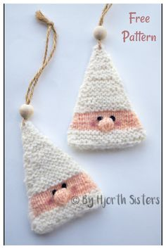 Christmas Elf Ornament Free Knitting Pattern Knitting Patterns Free, Free Knitting, Free Pattern, Crochet Patterns, Free Christmas Knitting Patterns, Afghan Patterns, Knitting Toys, Amigurumi Patterns, Knitted Christmas Decorations
