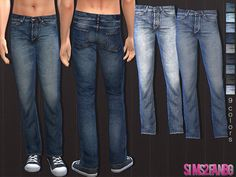 The Sims Resource: 34 – Male jeans by Sims2fanbg • Sims 4 Downloads
