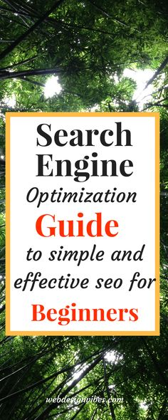 Search engine optimizations for beginners, especially for small business owners that cant effort a seo company.