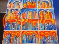 Jahr 5 Paul Klee Cats Pastel Jahr 3 – Hot / Cold Mountains Pastel Jahr 1 – Fruit S … - kunst grundschule Middle School Art Projects, Classroom Art Projects, Art Classroom, Color Art Lessons, 7th Grade Art, Perspective Art, Cityscape Art, Ecole Art, Art Curriculum