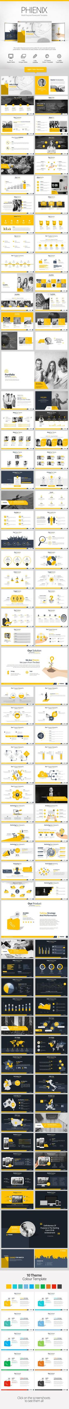 Phienix Powerpoint Presentation Template #design #slides Buy Now…