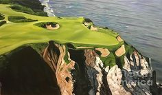 Cabot Cliffs by Graham McLeod Cape Breton, Wood Stone, Golf Courses, Wall Art, Artist, Painting, Painting Art, Paintings