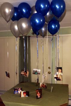 Each year of his life is represented with a photo with a message on the back! Birthday Room Surprise, 18th Birthday Gifts For Boys, Birthday Surprise Boyfriend, Boyfriends 21st Birthday, Birthday Surprises, Welcome Home Boyfriend, Diy Gifts For Boyfriend, Birthday Room Decorations, Welcome Home Parties