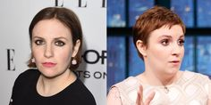 Nonstop hair adventurer Lena Dunham has done it again, this time going for a Mia Farrow-like pixie, which she debuted on Seth Meyers last night. A new look for a new season, sure, but what we're really interested in is seeing how she'll grow it out—and what colors she'll dye it before then.