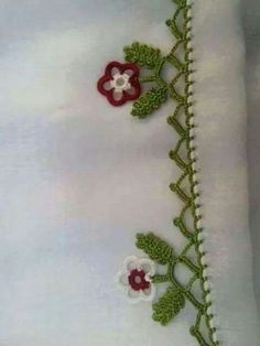 Oya Crochet Cardigan, Crochet Lace, Baby Knitting Patterns, Crochet Patterns, Crochet Borders, Border Design, Chrochet, Doilies, Needle Lace