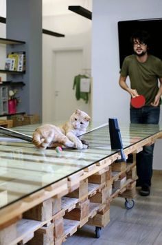 pallet ping pong table