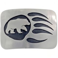 Silver Bear Paw Belt Buckle is a solid example of skilled craftsmanship with the sacred symbolism of tribal cultures,hand engraved Silver