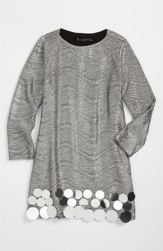 Biscotti Metallic Dress (Little Girls) available at #Nordstrom