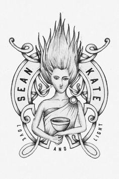 Sean and Kates main logo. Loosely based on the Irish Goddess Danu. We believe deeply in our Irish roots and the romance of Irish Mythology. WE wanted our branding to reflect this, to be strong yet feminine at the same time. Alejandro Gómez of In the Ointment did an incredible job on our branding. Each logo is a piece of art that we have incorporated around our home too!  #branding #photographybranding #logos #intheointment #alegomez #logos #seandkatephotography