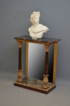 """Exceptional Regency Console Table Ca1810 England. 34.5""""H x 29""""W x 15""""D."""