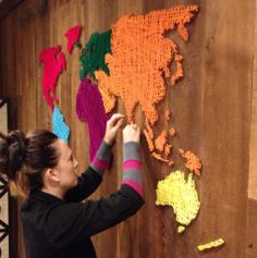 Diy string art world map ideas for the house pinterest diy i did this string art world map for a prayer room latitudestore gumiabroncs Image collections