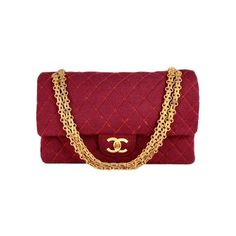 Chanel Quilted Burgundy Fabric Classic Double Flap Bag ❤ liked on Polyvore featuring bags, handbags, chanel, purses, clutches, accessories, handbag purse, red handbags, hologram purse and burgundy purse