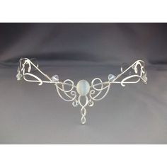 Shannon Bridal Circlet Wedding Headpiece Tiara Sterling Celtic... (€270) ❤ liked on Polyvore featuring accessories, hair accessories, tiaras, crowns, jewelry, celtic hair accessories, crown headband, headband crown, white hair accessories and bride hair accessories