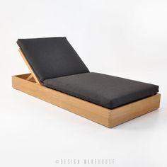 cabana teak sun lounger with cushion