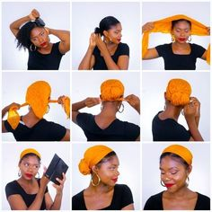 5 Tutorial Barber Scarf Afro Hair Kinky Summer Mustard - hair dues - Head Wraps Cabello Afro Natural, Pelo Natural, Natural Hair Care, Natural Hair Styles, Headwraps For Natural Hair, Hair Wrap Scarf, Hair Scarf Styles, Curly Hair Styles, Afro Hair Wrap