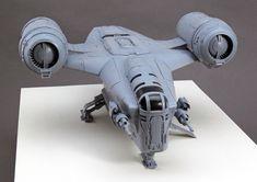 Mandalorian Ships, At Rt, Star Wars Spaceships, Star Wars Vehicles, Sci Fi Models, Star Wars Models, Star Wars Ships, Pinewood Derby, Death Star