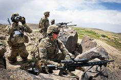 Snipers with the Airborne Division's Brigade Combat Team provide overwatch for fellow paratroopers in a village below them in Ghazni Province, Afghanistan, May 19 -- OPENPICS. Marsoc Marines, Sniper Training, Special Operations Command, 101st Airborne Division, Navy Sailor, Paratrooper, Army Soldier, American Soldiers, Military Army
