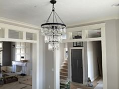 transom windows Dining Room Chandelier Buildwithnick.com